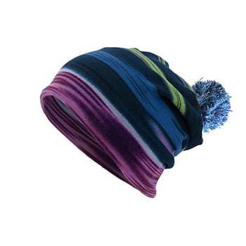 Antimicrobial beanie with pompom